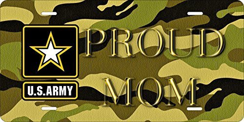 US Army Mom Novelty Custom Personalized Tag Vehicle Car Auto License Plate