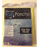 One Size Hooded Rain Poncho Yellow Emergency Sports Gear - $7.00