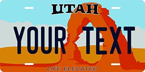 Utah Novelty Custom Personalized Tag Vehicle Car Auto License Plate