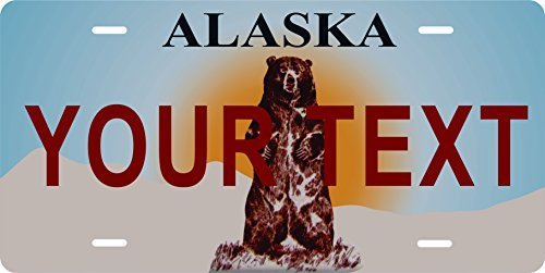 Alaska Novelty Custom Personalized Tag Vehicle Car Auto License Plate