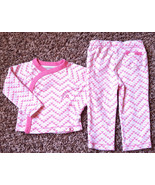Girl's Size 6-9 M Months Two Piece Burt's Bees Pink White Bee Top & Pant... - $12.00