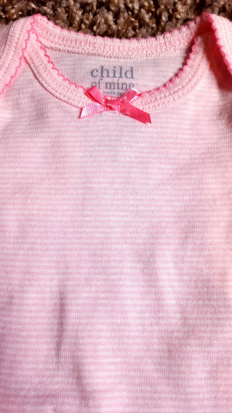 Girl's Size NB Newborn 2 Piece Carter's Pink/ White Striped Top & Legging Pants