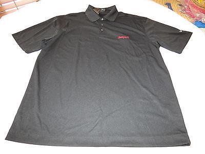 Nike Golf Dri Fit Texas Pete Men's short sleeve polo shirt 010 XL black NWT@