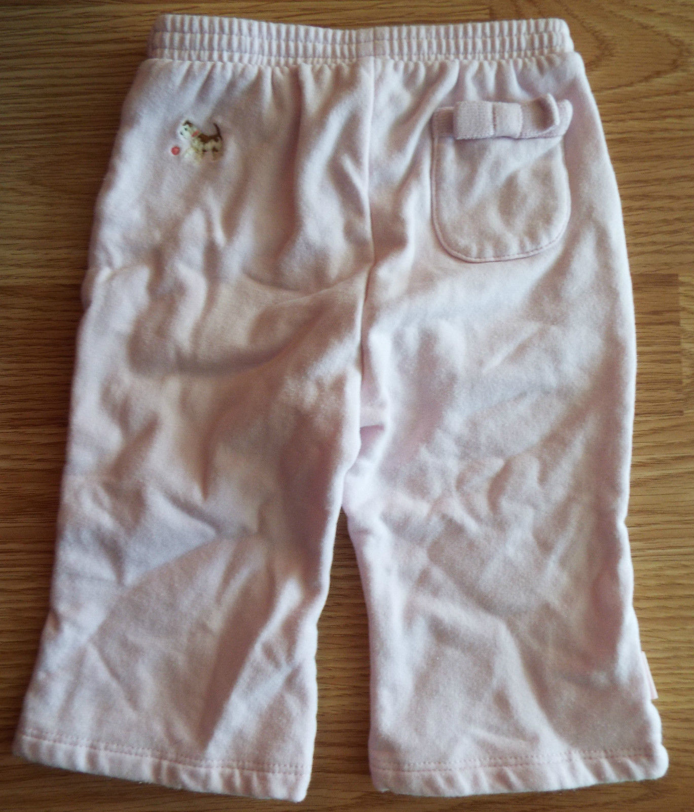 Girl's Size 3-6 M Months 2 Piece Baby Gap Outfit Solid Pink Top & Puppy Pants