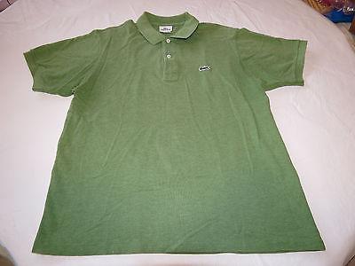 LaCoste 5 green polo knit polo shirt Men's gator 5191L RARE adult EUC @