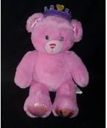 BUILD A BEAR DISNEY PRINCESS PINK TEDDY W/ CROWN STUFFED ANIMAL PLUSH TO... - $25.25
