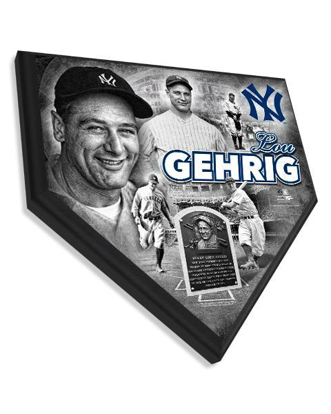 "Lou Gehrig New York Yankees 11.5"" x 11.5"" Home Plate Plaque"