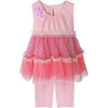 Isobella & Chloe Baby Girl 3M-24M Pink Tier Dress Legging Set