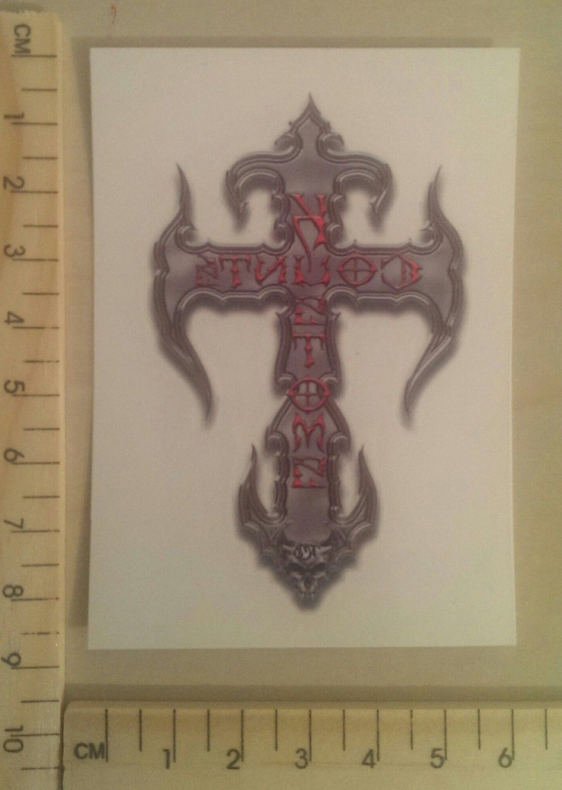 """GENUINE BRAND NEW COUNT'S KROSS TEMPORARY TATTOO - FULL COLOUR SIZE 3.5""""x 2.5"""""""