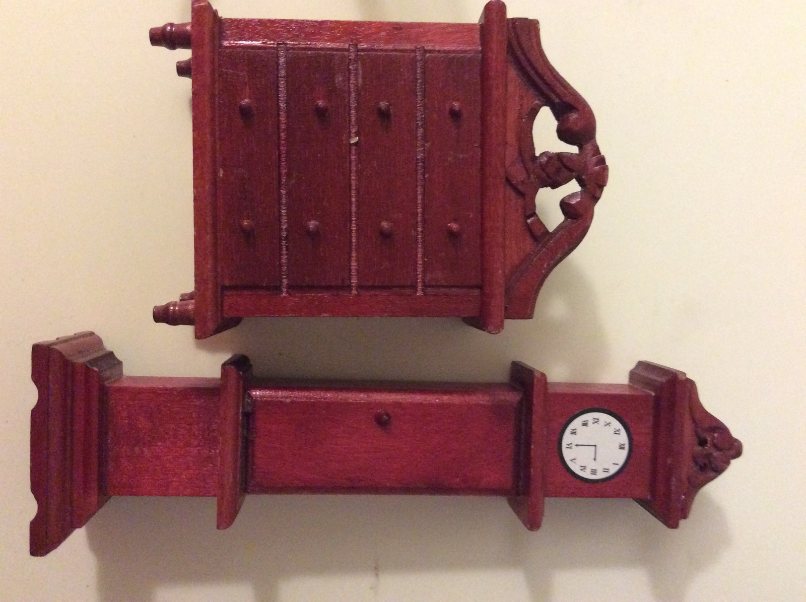 Miniature Dollhouse Bedroom Furniture  -  Music pieces Grandfather clock