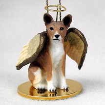 BASENJI ANGEL DOG CHRISTMAS ORNAMENT HOLIDAY Figurine Statue - $12.38