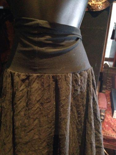 Vintage Style Black Sheer long Gypsie Skirt Maxi