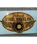 GENUINE DETROIT STEEL WHEEL MOBSTEEL YELLOW STICKER VINYL DECAL 15cm x 1... - $13.95