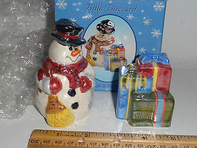 SALT AND PEPPER SHAKERS -  SNOWMAN &GIFT BOXES -very colorful
