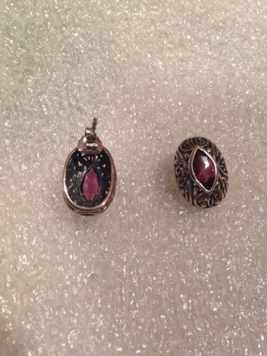 Vintage Filigree Pink Tourmaline Drop 92.5% Sterling Silver Earrings