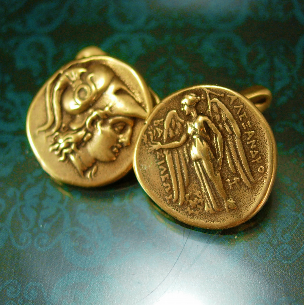 Mythology Cufflinks Hermes Vintage Mythical Miniature Art Cuff links gold Access