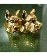 Vintage Swank BullDog cufflinks Dog Breeder Animal Lover boxer Terrier d... - $125.00