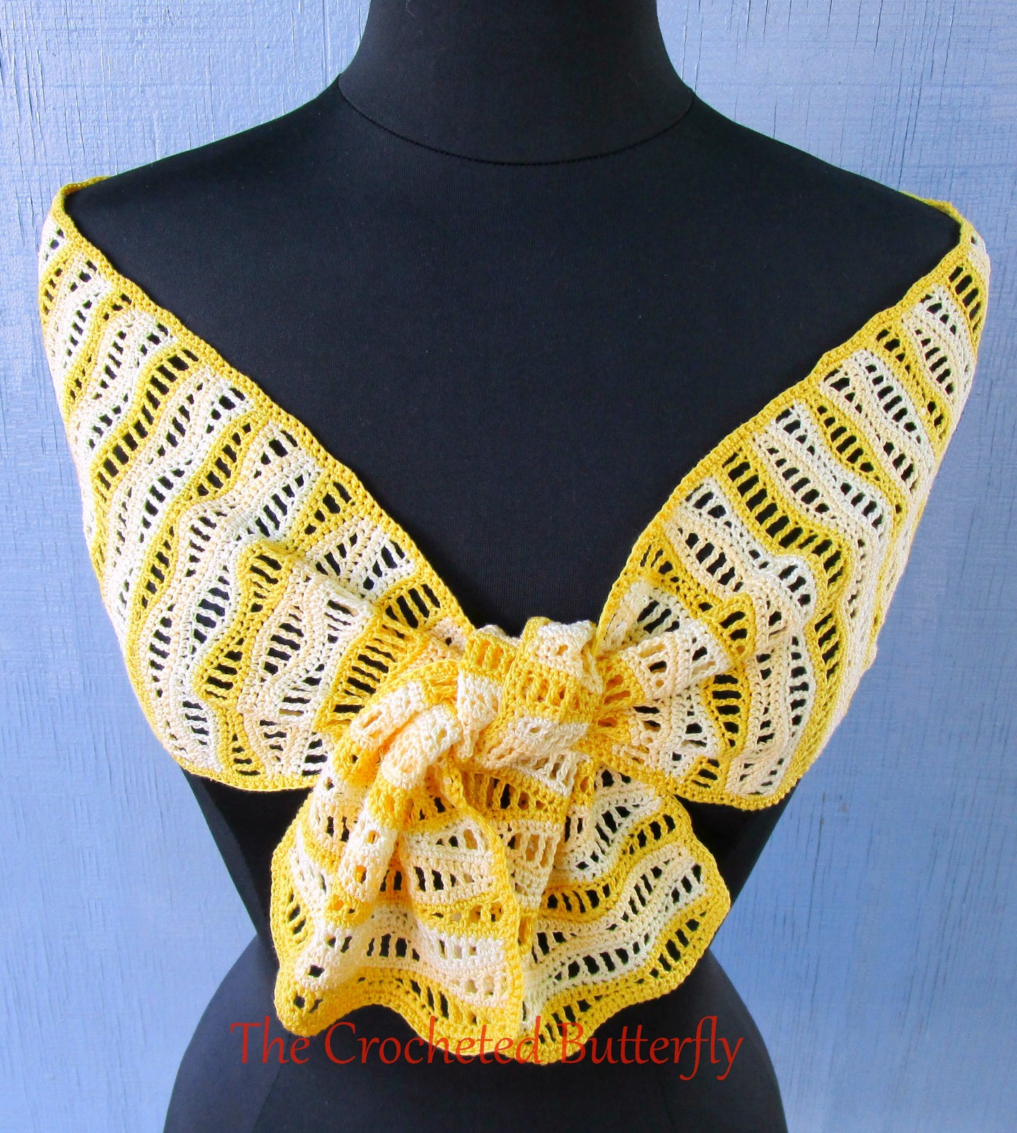 CROCHET PATTERN, Du Soleil Scarf, lace, lady's accessory, fashion, handmade