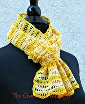 CROCHET PATTERN, Du Soleil Scarf, lace, lady's accessory, fashion, handmade - $3.99