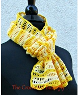 CROCHET PATTERN, Du Soleil Scarf, lace, lady's accessory, fashion, handmade - $3.99