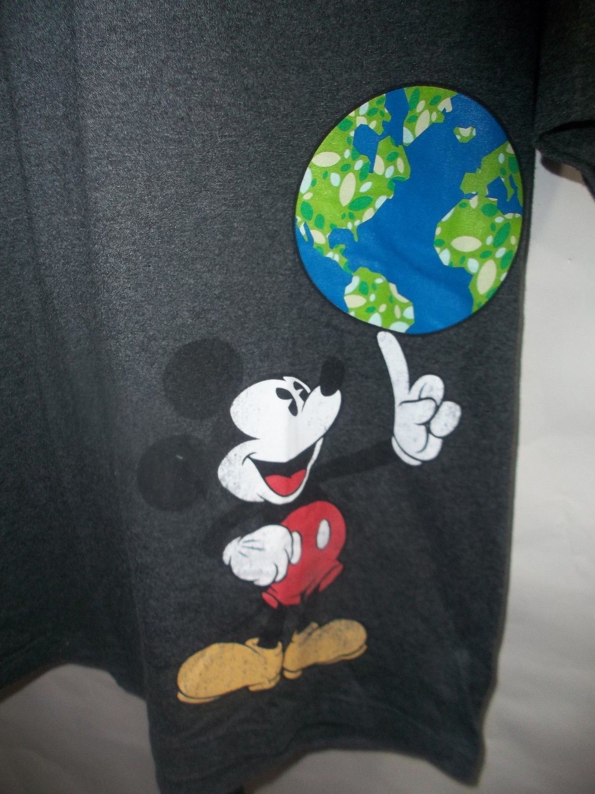 Disney Mickey Mouse Tee (Charcoal Heather Greyl) Men's T-Shirt Medium