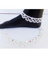 ANKLET BRACELET 22k SILVER PLATED PAYAL SET BOLLYWOOD Fashion INDIAN JEW... - $19.48