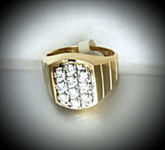 MEN'S =DRESS 4 SUCCE$$= FINE DIAMONDs 14K YELLOW GOLD RING (.90 CTw) 'New' - $1,480.00