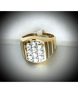 MEN'S =DRESS 4 SUCCE$$= FINE DIAMONDs 14K YELLOW GOLD RING (.90 CTw) 'New' - $1,480.00