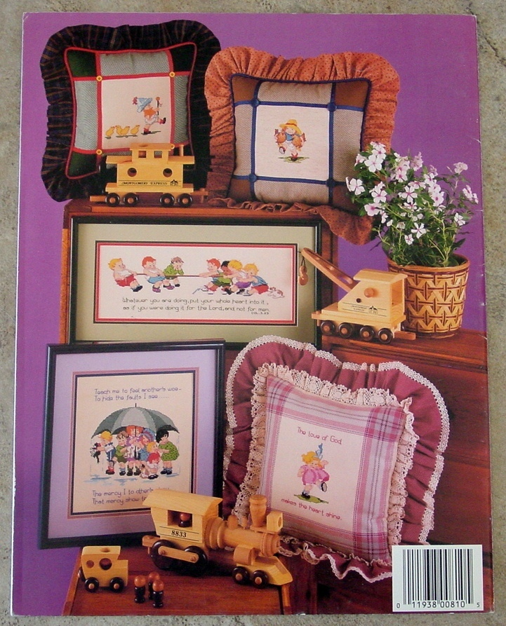 14 Pages-Cross Stitch BABY BOOMER BABIES-Wash and Wear Babies Growing Up-Cute