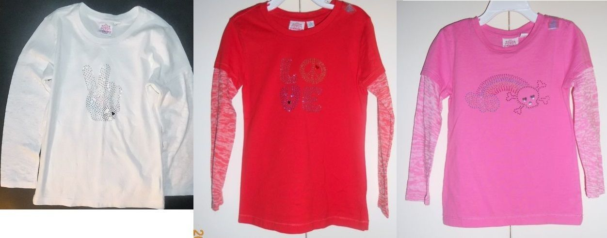 The Children's Place Girls Long Sleeve Shirts 3 Colors Sizes XS 4 and Sm 5-6 NWT
