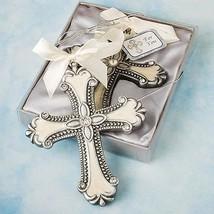 Decorative Cross Ornament Favor Wedding Reception Religious Baptism Brid... - $2.95