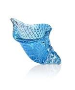 Gorgeous Art Glass Clear Blue Shell Nautical,Costal Beach Paperweight,9.... - $55.00