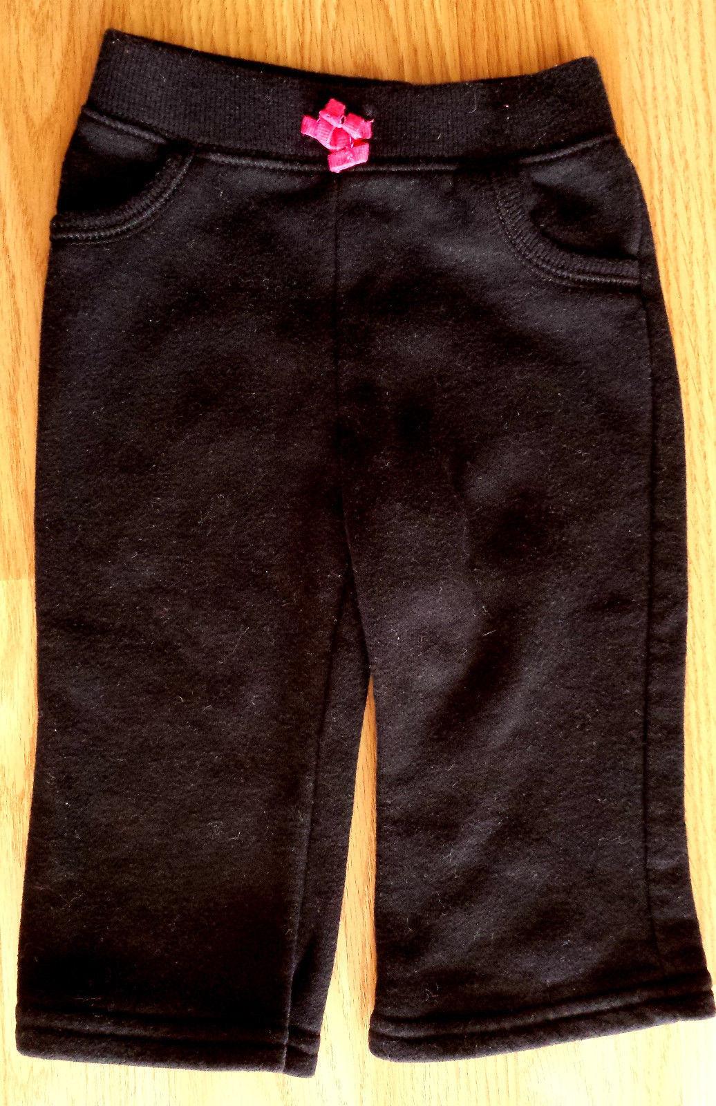 Girl's Size 12 M Months 4 Pc Black TCP Cardigan, Pink Top, JB Pants & Panda Hat