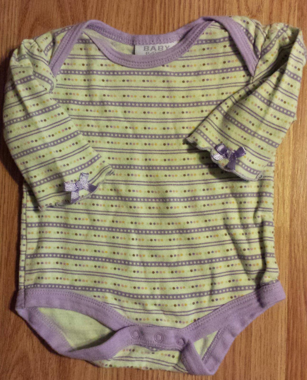 Girl's Size 0-3 M Months Two Piece Green Polka Dot Bon bebe Top, TCP Place Jeans