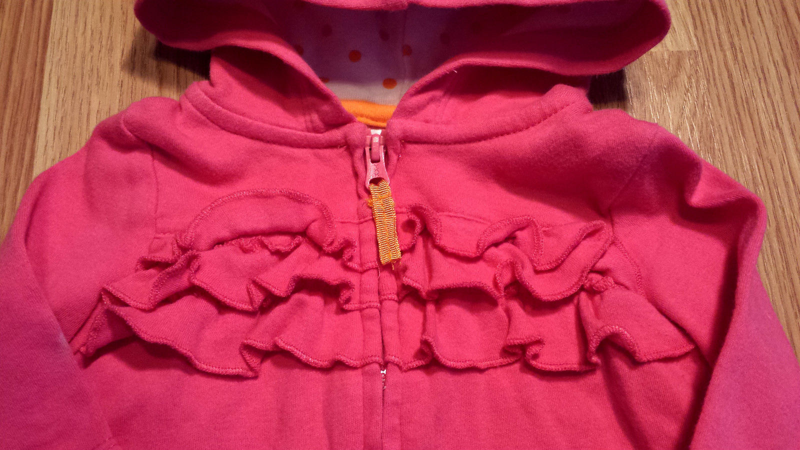 Girl's Size 0-3 M Months 3 Pc Pink Hooded Carter's Jacket, Top & Lady Bug Pants