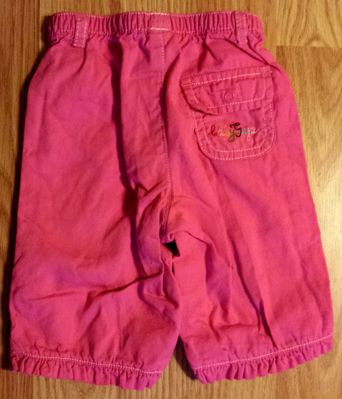 Girl's Size 0-3 M Months Two Pc White Carter's Top & Pink Baby Gap Rainbow Pants