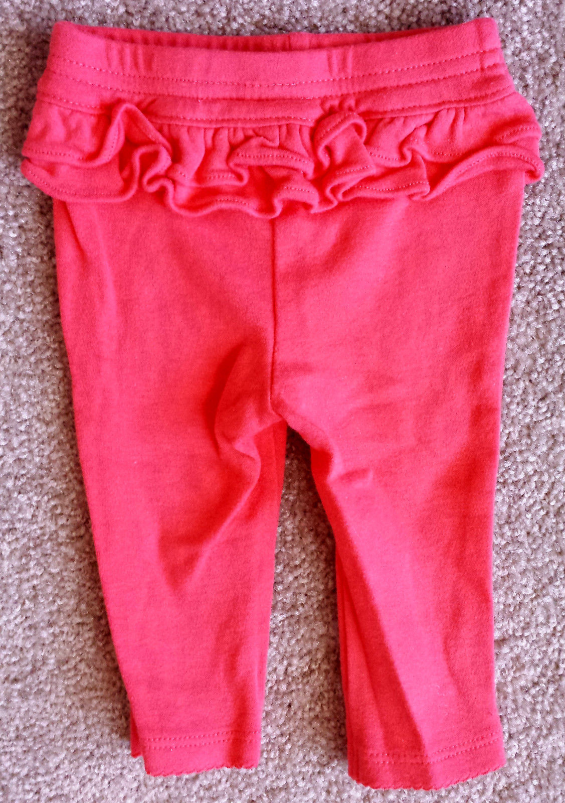 Girl's Size 0-3 M Months 3 Piece Carter's Pink/ White Striped Top, Pants + Socks