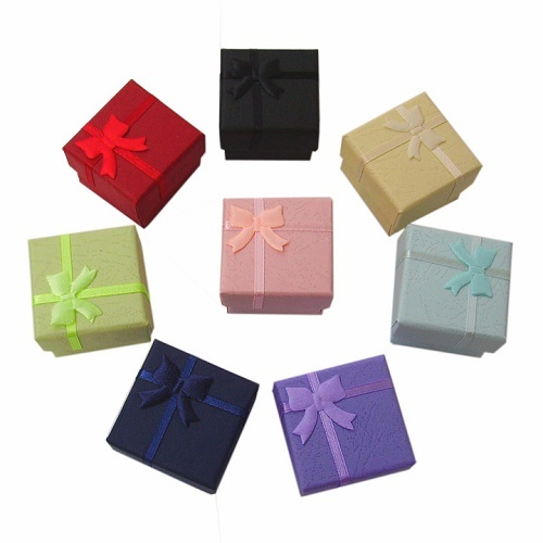 48X Ring Earring Jewelry Display Gift Boxes Cardboard Paper
