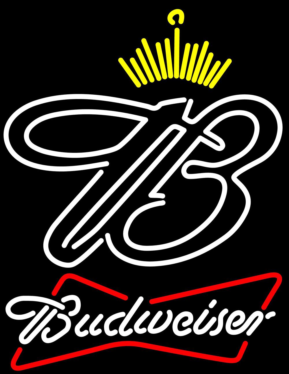 Budweiser bowtie crown neon sign 16  x 16  1
