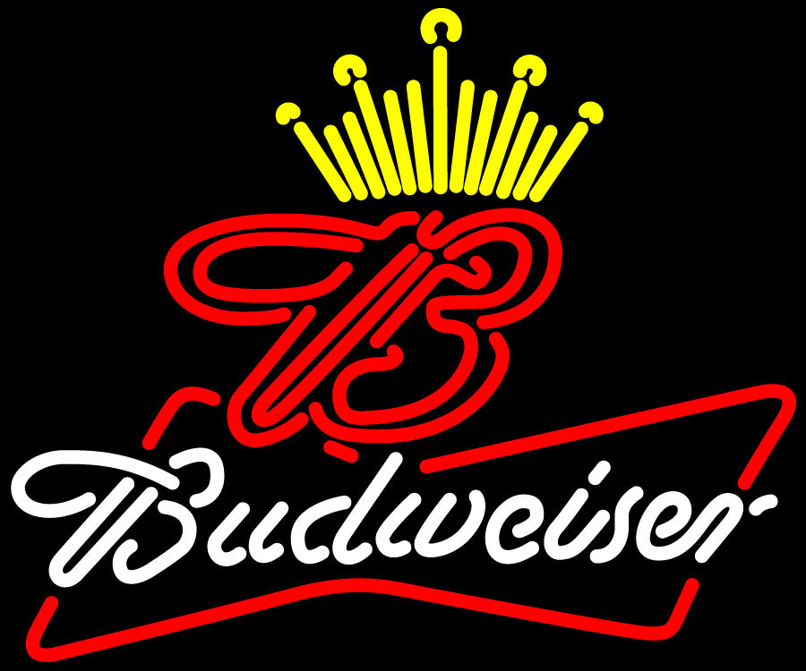 Budweiser king of beer it up neon sign 18  x 18