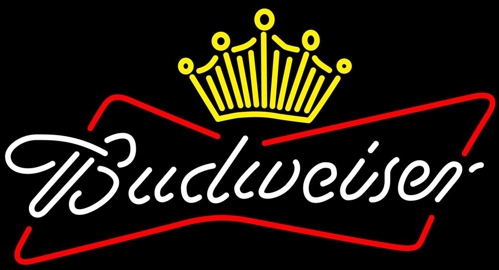 Budweiser crown neon sign 16  x 16  2
