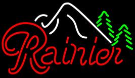 Rainier Evergeen Trees Mountain Neon Sign - $499.00