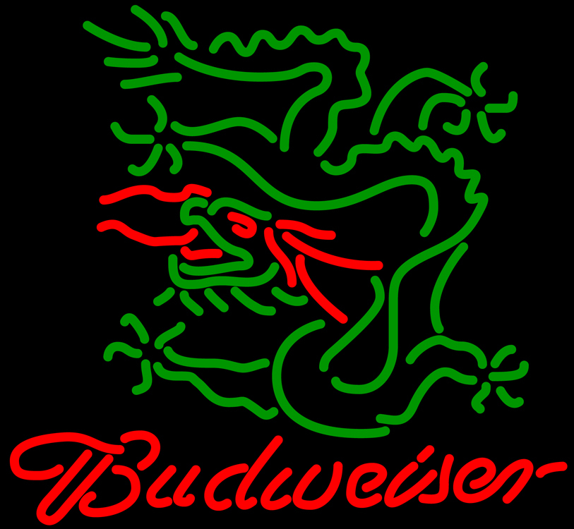 Budweiser dragon neon sign 16  x 16