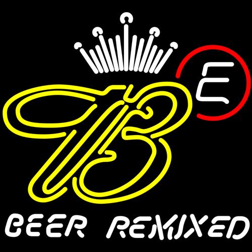 Budweiser e remixed neon sign 16  x 16