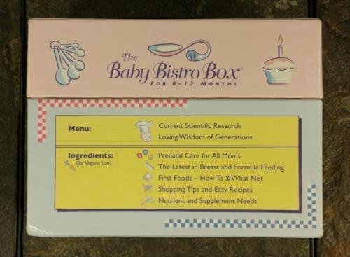 Baby Bistro Box 2nd Edition - Baby Food Recipe Cards For 0-12 Months - Cookbook