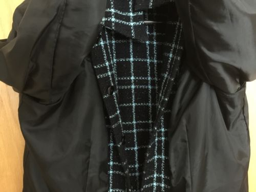 Sag Harbor Plaid Black & Blue Blazer Jacket Jacket Womens Size 12