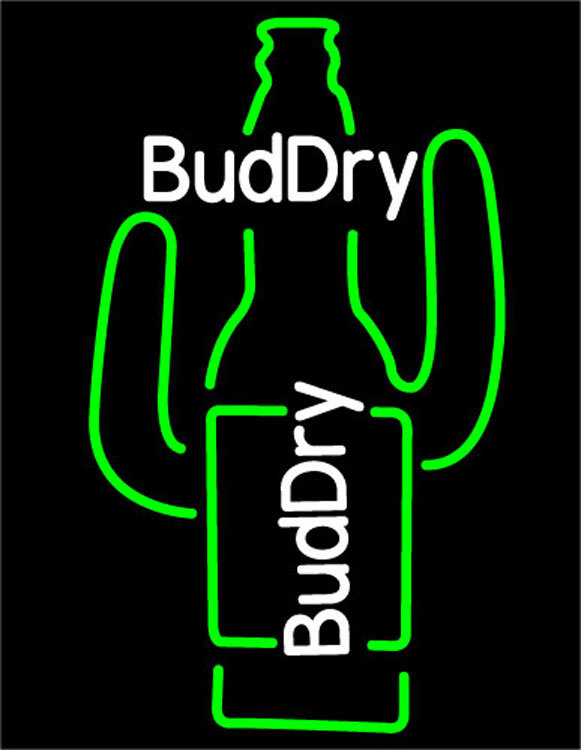 Budweiser dry cactus neon sign 16  x 16