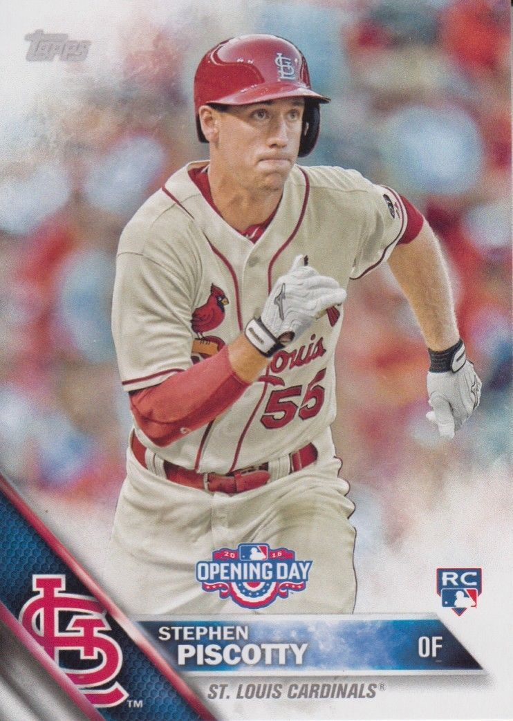 Stephen Piscotty 2016 Topps Opening Day Rookie Card #OD-161