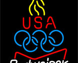 Budweiser olympic torch neon sign 16  x 16  thumb155 crop