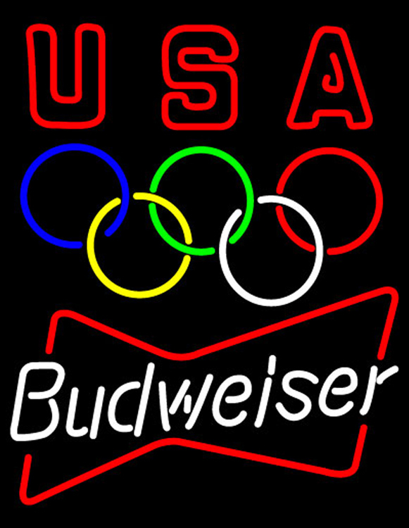 Budweiser olympic neon sign 16  x 16